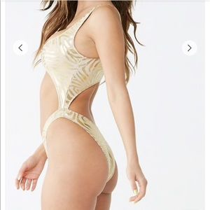 Tiger Striped One-Piece Swimsuit